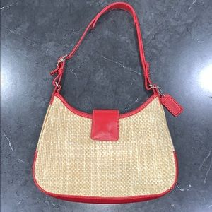 Coach Woven Straw mini Hobo Bag
